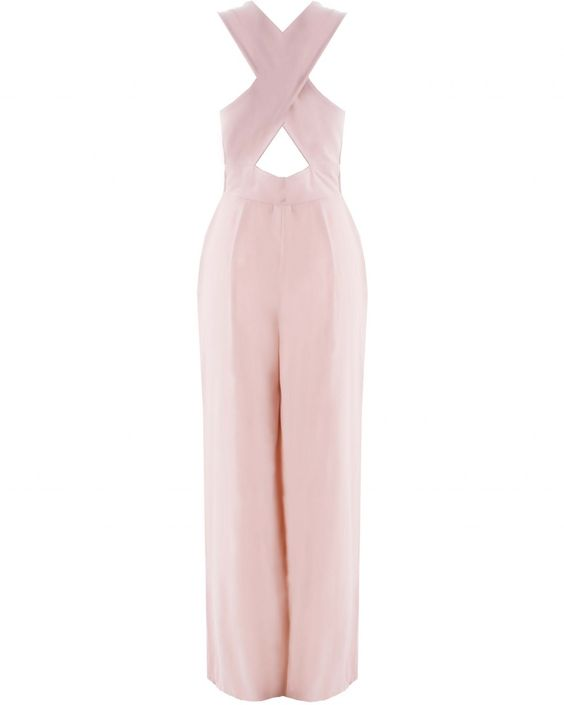 LOVE Nude Cross Back Crepe Jumpsuit - In Love With Fashion