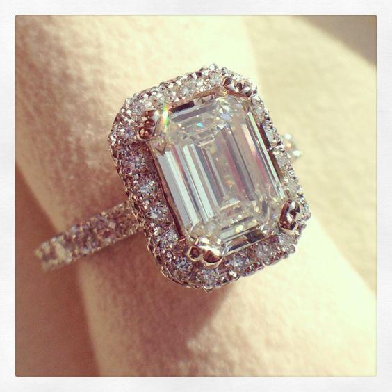 beautiful beautiful engagement rings and emerald cut