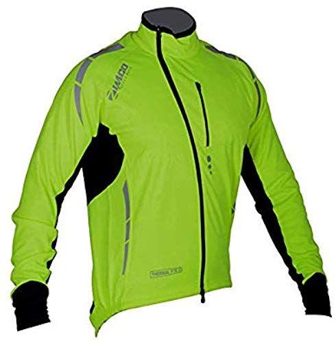 Mens Cycling Rain Coats Waterproof Windproof Jacket High viz Green Bike Tops