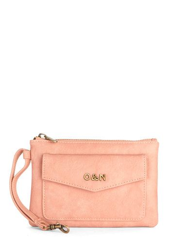 Packed with Pretty Clutch by Ollie & Nic - Solid, Faux Leather, Pink, Good, Pink, International Designer