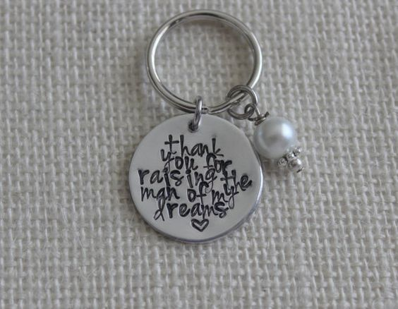 Personalized KeyChain MotherInLaw Gifts MotherIn by DoggySayWhaaat