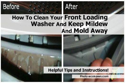 how to clean a smelly front loading washing machine