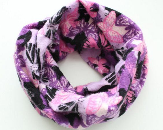 Butterfly Infinity Scarf Flannel Baby Scarf by BrittsBowtiqueVA