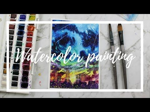 City Colors Watercolor Painting By Artbybee7 Youtube Pinturas