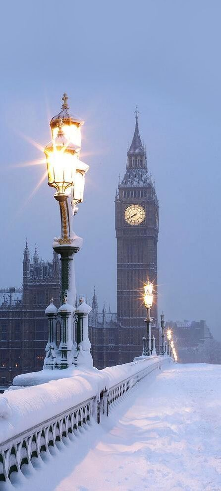 London in the snow ~ Happy Christmas from everyone at James Regan Construction www.jamesreganconstruction.co.uk