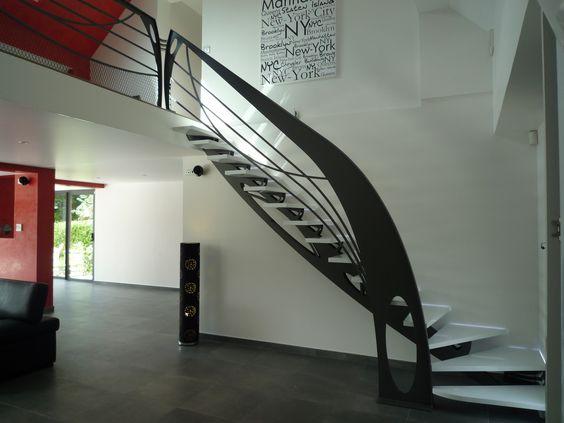 """Escalier Design """"Art Déco"""" Design Staircase """"Art déco"""" www.brugevale.com"""
