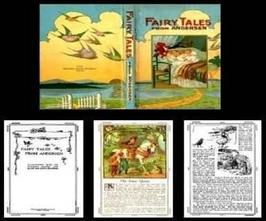 fairy tale book cover template - fairy tales from anderson dollhouse miniatures fairy