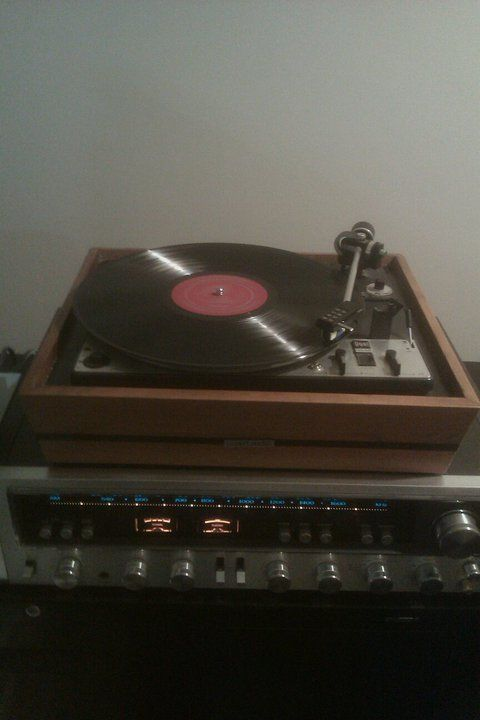 Dual 1228 Turntable and Kenwood KR-7600 Receiver