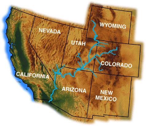 Colorado River States Water Resources Pinterest Colorado - Colorado river on us map