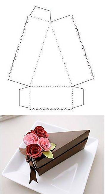 caixa para fatia de bolo