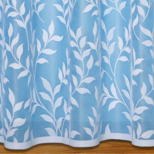 From 2 64 Lisa Leaf Net Curtain Width Sold By The Metre 54