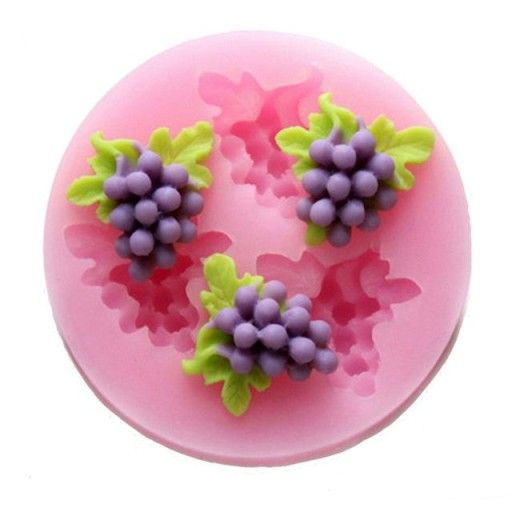 Forma Silikonowa Winogrono Winogrona Komunia Chocolate Cake Toppers Fondant Silicone Molds Fondant Molds