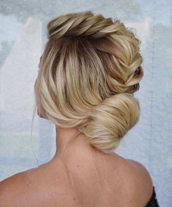 Braid updo hairstyle