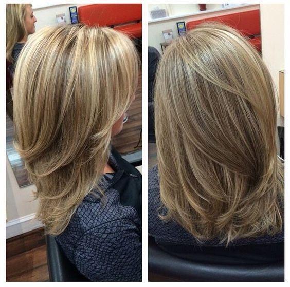 Back View Of Medium Layered Haircuts Hair Styles Long Hair Styles Medium Hair Styles