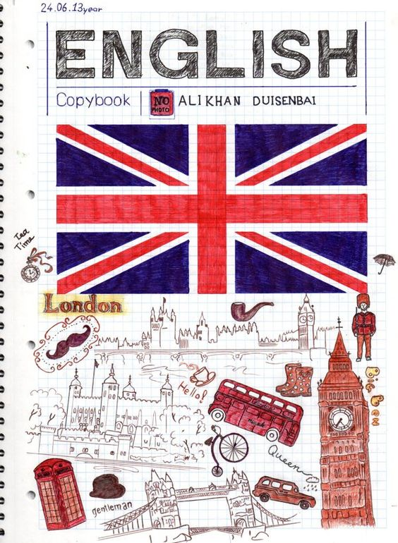 The first page of my copybook English by Alikhan Duisenbai, via Behance