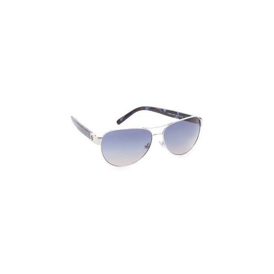 Tory Burch Aviator Sunglasses (197 AUD) ❤ liked on Polyvore featuring accessories, eyewear, sunglasses, tory burch eyewear, gradient lens sunglasses, tortoise shell sunglasses, tory burch sunglasses and tortoiseshell sunglasses