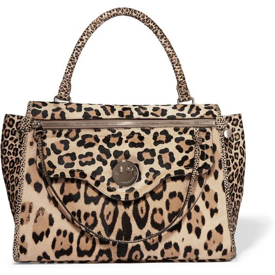 Hill & Friends Happy Zippy leopard-print calf hair tote (£1,495) ❤ liked on Polyvore featuring bags, handbags, tote bags, leopard tote, leopard print tote bag, leopard tote bag, travel purse and animal print handbags