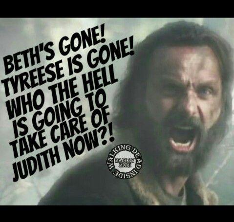 The Walking Dead, Memes, Rick Grimes, Tyreese, Beth Greene, Judith Grimes