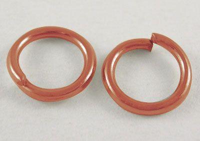 Gold Jump Ring 6MM  QTY 200  (JR-301) by CarolinaFindingsEtc on Etsy