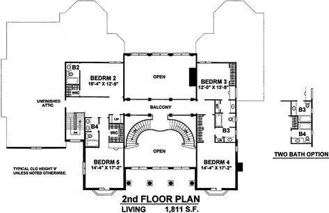 House Plan 402 01524 Luxury Plan 5 934 Square Feet 4 Bedrooms 6 Bathrooms Luxury Plan Floor Plans Floor Remodel