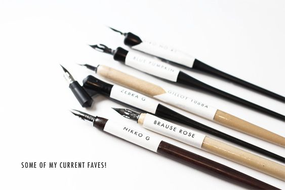 Calligraphy nibs modern and on