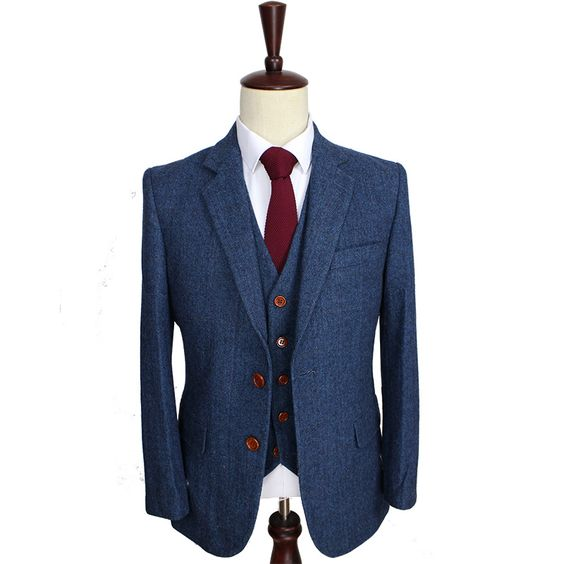 Wool, Blazers and Mens 3 piece suits on Pinterest