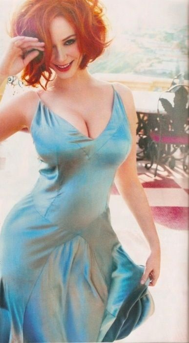 Curvy Christina Hendricks, thick and toned