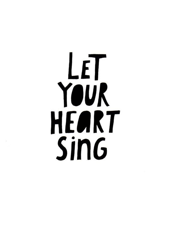 SPECIAL SALE Let Your Heart Sing (art print). $7.00, via Etsy.