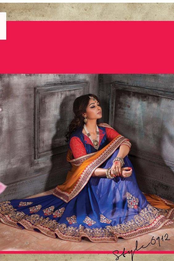Golden Satin Designer Saree