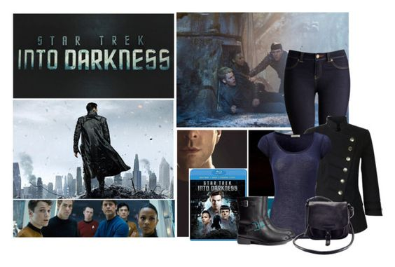 """""""Star Trek Into Darkness"""" by katherine-potts-stark ❤ liked on Polyvore featuring Villain, Joules, French Connection, American Vintage, Karl Lagerfeld, H&M, Armani Exchange, women's clothing, women and female"""