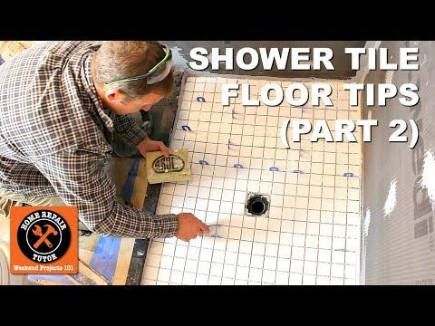 How to Tile a Shower Floor (Part 2: Setting 2x2 Tiles)   YouTube