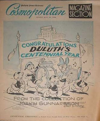 The Cosmopolitan Magazine Section of the Duluth News-Tribune, July 29 1956.