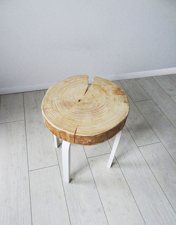 hocker baumscheibe drinnen pinterest holzscheiben st hle und pflanzen. Black Bedroom Furniture Sets. Home Design Ideas
