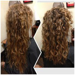 before after dry haircut for naturally curly hair