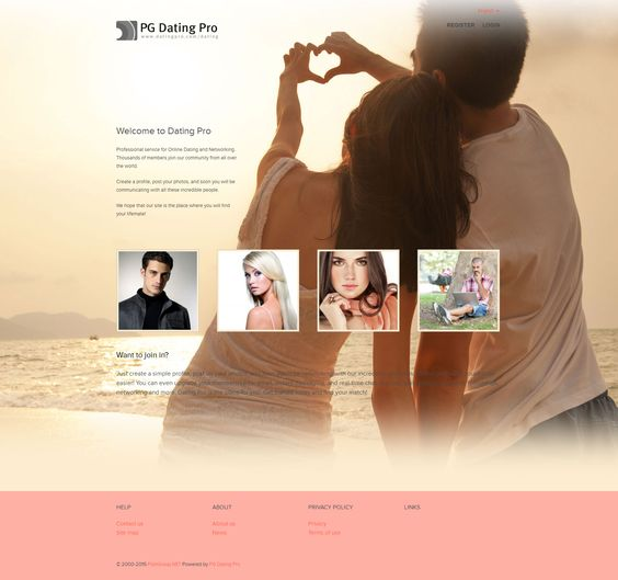 Site builder for online dating