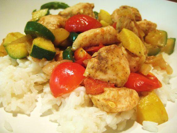 Chicken Calvasa over Rice - Jillian's Kitchen