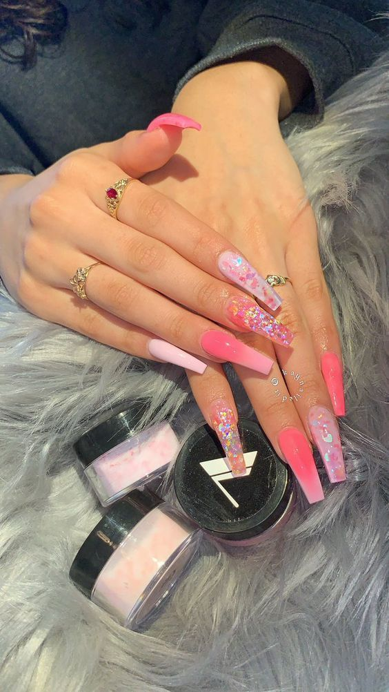 When You Consider Something Remarkably Insane And Sharp To Respect A Delightful Minute At Summer Wit Pink Acrylic Nails Pretty Acrylic Nails Cute Acrylic Nails