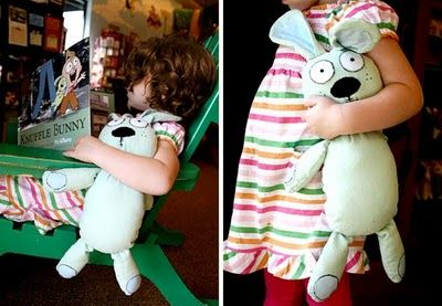 Tutorial: Sew a Knuffle Bunny - Free Pattern! So making one of these for a Christmas present this year! What a great idea!