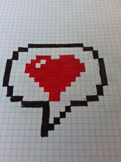 Pixel Art Sms Amour Difficultés Facile Pixel Art Pixel