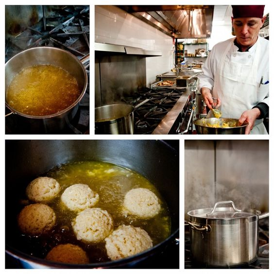 The secret to Veselka's perfect matzo balls!  I might be partial because I shot this story...