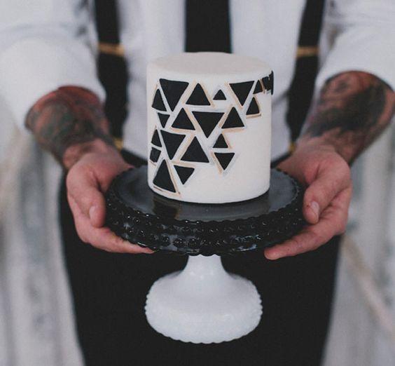 A Mini Geometric Cake - Sweet & Saucy Shop Cake