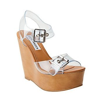 """Steve Madden """"Wizarrd"""" $89.95. This kinda reminds me of the jelly shoes haha"""