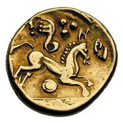 British coinage has designs more rooted to Celtic art, breaking away from the realism of the Greek, later Roman, coins where it's derived fr...