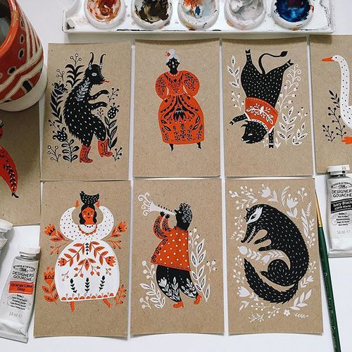 Estoy pensando en convertir estos en un conjunto postal, ¿qué piensan ustedes?