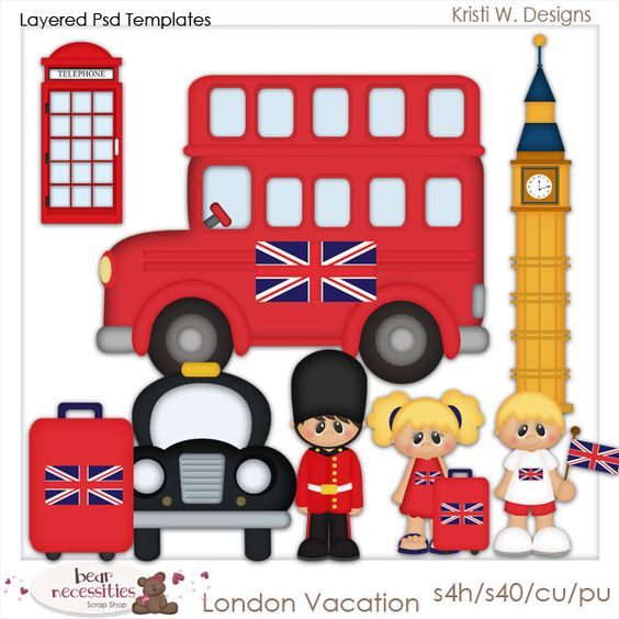 London England Vacation - Kristi W Designs Templates