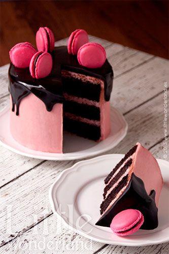 Tarta de chocolate y frambuesa | Chocolate and raspberry cake