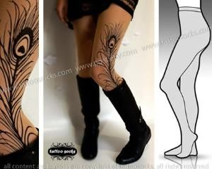 tattoo tights. able to have different tattoos whenever i want without the permanence of it