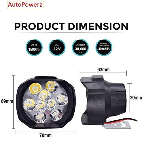 Autopowerz Imported 9 Led Fog Light For Cars And Bikes Led Fog