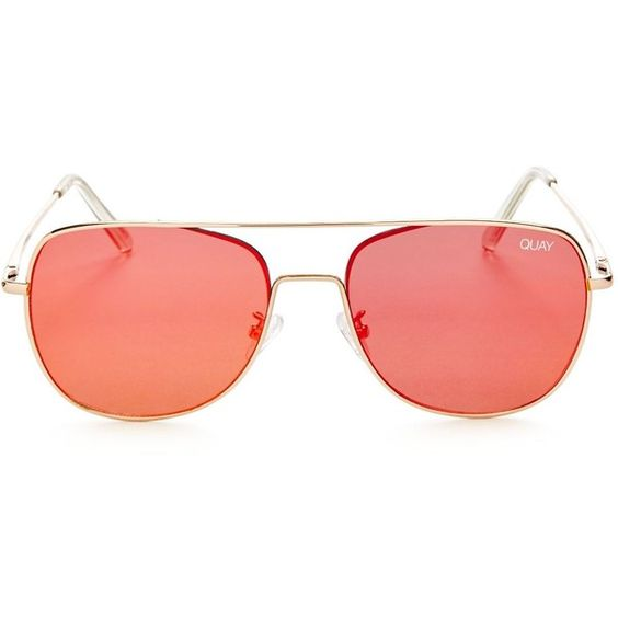 Quay Running Riot Mirrored Aviator Sunglasses, 57mm (180 BRL) ❤ liked on Polyvore featuring jewelry and mirrored jewelry