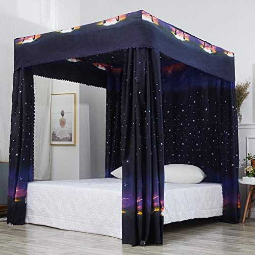 Canopy Bed Curtains Storiestrending, Queen Size Canopy Bed With Curtains